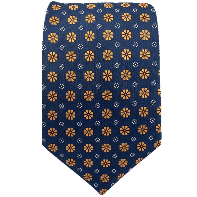 94f6c1800cf9 F18 Blue Gold Floral Men's Accessories Necktie Set Fashion XL ...